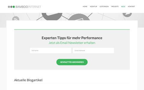 Screenshot of Blog bamboo-internet.de - Bamboo Internet |Online Marketing Blog - captured Nov. 13, 2018