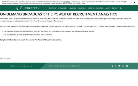 On-demand Broadcast: The Power of Recruitment Analytics