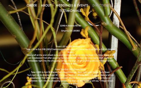 Screenshot of Maps & Directions Page villagegreenflowersandgifts.com - Directions — Village Green Flowers & Gifts - captured Oct. 25, 2017