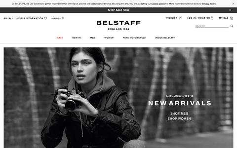 Screenshot of Home Page belstaff.com - belstaff.com - Official Online Store | Belstaff™ US - captured July 14, 2018