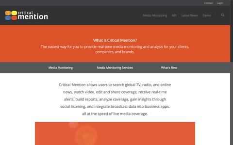Media Monitoring Tools and Software - Critical Mention - Media Monitoring