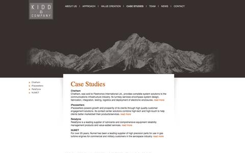 Screenshot of Case Studies Page kiddcompany.com captured Sept. 30, 2014