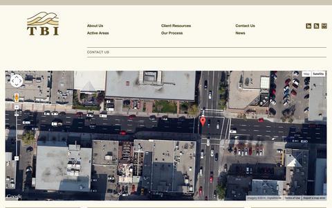 Screenshot of Contact Page tbi.ca - Contact Us | Thrust Belt Imaging - captured Oct. 9, 2014