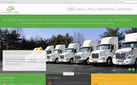 Screenshot of Home Page autofillingservices.com - Home - Auto Filling Service - captured Oct. 4, 2014