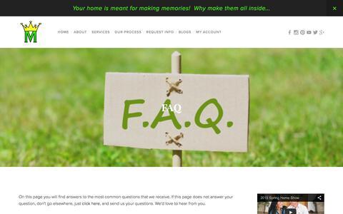 Screenshot of FAQ Page monumentaloutdoor.com - FAQ — Monumental Lawn & Outdoor LLC - captured Feb. 14, 2016