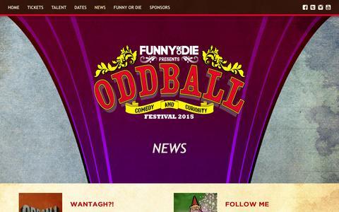 Screenshot of Press Page oddballfest.com - News | Oddball Festival - captured Sept. 29, 2015
