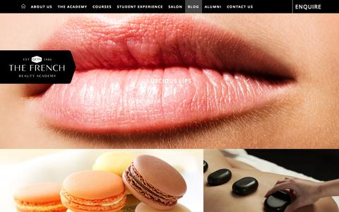 Screenshot of Blog thefrenchbeautyacademy.edu.au - Blog - The French Beauty Academy - captured Nov. 2, 2014