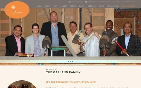 Screenshot of Jobs Page thegarland.com - Careers at The Garland | North Hollywood - captured Feb. 9, 2016