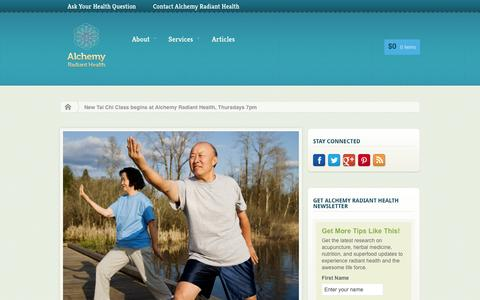 Screenshot of Maps & Directions Page alchemyradianthealth.com - New Tai Class in Encinitas - captured Sept. 30, 2014