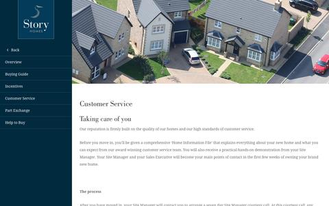 Screenshot of Support Page storyhomes.co.uk - Customer care - Our care service as you buy your new house - captured Dec. 5, 2016
