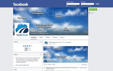 Screenshot of Facebook Page facebook.com - Tech Cloud Ltd. - Dhaka, Bangladesh - Computers/Technology | Facebook - captured Nov. 5, 2014