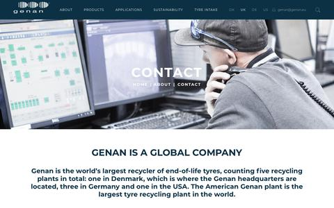 Screenshot of Locations Page genan.eu - CONTACT - Genan - captured Sept. 27, 2018
