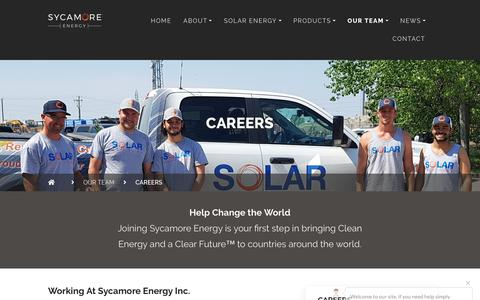 Screenshot of Jobs Page sycamoreenergy.com - Careers - Sycamore Energy Inc. - captured Oct. 18, 2018