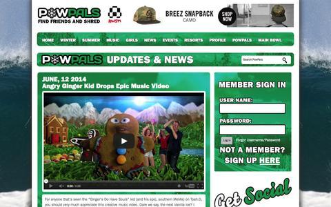 Screenshot of Press Page powpals.com - News | Powpals - captured Sept. 30, 2014