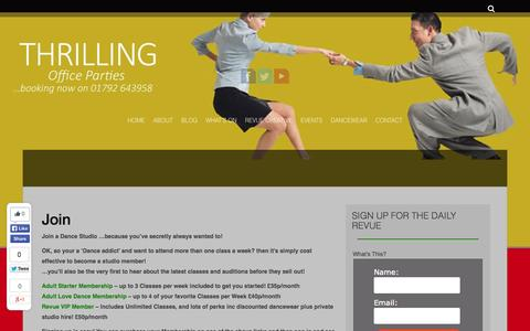 Screenshot of Signup Page revuestudios.co.uk - Join - Dance Lessons in Swansea South Wales. For all abilities. Couples, Wedding First Dance, Kids Dancing - captured Sept. 30, 2014