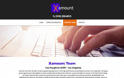 Screenshot of Team Page xamount.com - HPC Solutions Reseller | Xamount Team | Los Angeles, CA - captured Dec. 19, 2016