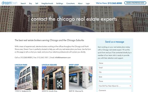 Screenshot of Contact Page dreamtown.com - Contact Dream Town Realty - captured Oct. 13, 2017