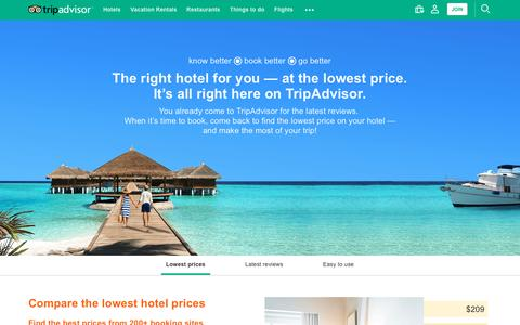 Screenshot of Press Page tripadvisor.com - TripAdvisor: Read Reviews, Compare Prices & Book - captured May 31, 2017