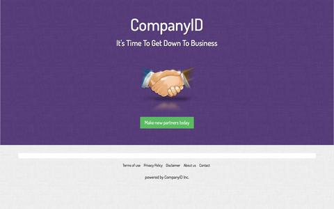 Screenshot of Privacy Page companyid.com - SOCIAL BUSINESS CONTACT - It's Time To Get Down To Business - captured Dec. 10, 2015