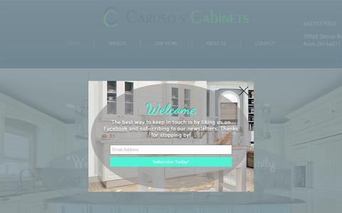 Screenshot of Home Page carusoscabinets.com - Cabinet & Countertop Store   Avon   Caruso's Cabinets - captured July 16, 2018