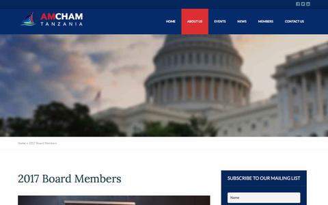Screenshot of Team Page amcham-tz.com - 2017 Board Members - American Chamber of Commerce in Tanzania - captured Oct. 8, 2017