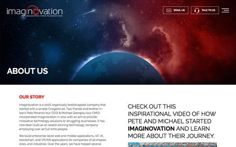 Screenshot of About Page imaginovation.net - About Us   Imaginovation   Web Development Company Raleigh, NC - captured Aug. 5, 2019