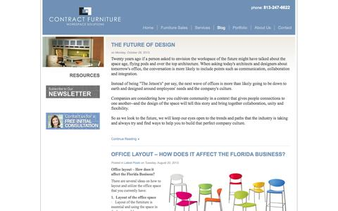 Screenshot of Blog contractfurniturefl.com - Blog | Contract Furniture - captured Oct. 3, 2014