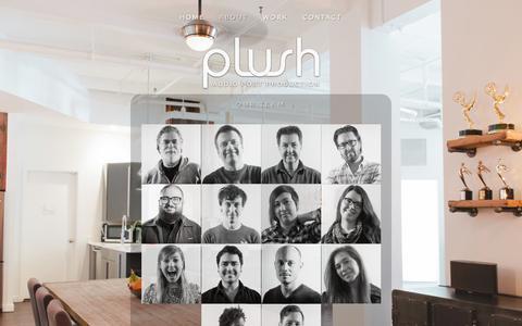 Screenshot of Team Page plushnyc.com - TEAM Ń PLUSH NYC - captured Dec. 5, 2015