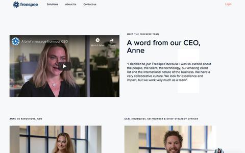 Screenshot of Team Page freespee.com - Team - Freespee - captured July 18, 2019