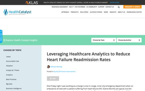 Leveraging Healthcare Analytics to Reduce Heart Failure Readmission Rates