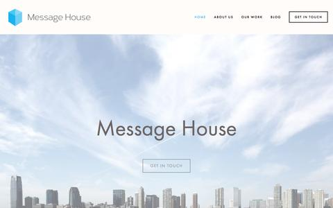 Screenshot of Home Page message-house.co.uk - Message House - captured Aug. 10, 2016