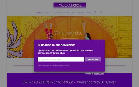 Screenshot of Home Page yogafool.net - yogafool | - captured Aug. 13, 2015