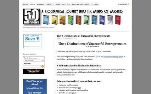 Screenshot of Blog 50interviews.com - 50 Interviews — - captured Oct. 27, 2014