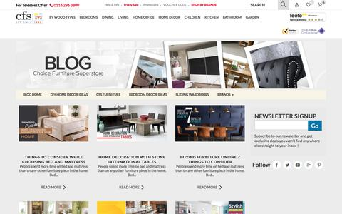 Screenshot of Blog choicefurnituresuperstore.co.uk - Furniture Ideas, Buying Guide & DIY Home Decor Ideas - CFS Blog - captured June 30, 2017