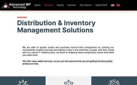 Screenshot of Services Page advancedmp.com - Services | Advanced MP Technology - captured Feb. 14, 2019