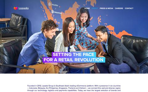 Screenshot of About Page lazada.com - About - captured Nov. 29, 2019