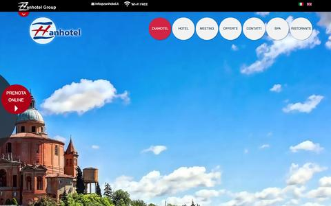 Screenshot of Home Page zanhotel.it - 5 Hotel Centrali a Bologna con Zanhotel Group - captured Feb. 13, 2016