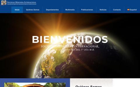 Screenshot of Home Page asd1844.org - Sociedad Misionera Internacional CG – Adventista del 7º Día Movimiento de Reforma - captured Oct. 1, 2018