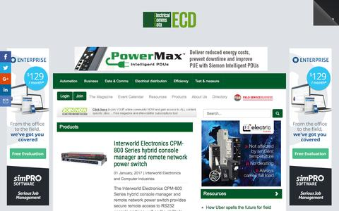 Screenshot of Products Page electricalsolutions.net.au - Product Reviews  :: ECD (Electrical+Comms+Data) - captured Jan. 16, 2017