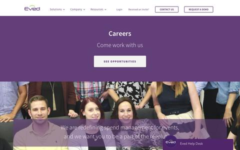 Screenshot of Jobs Page eved.com - Careers - Eved - captured Aug. 1, 2017