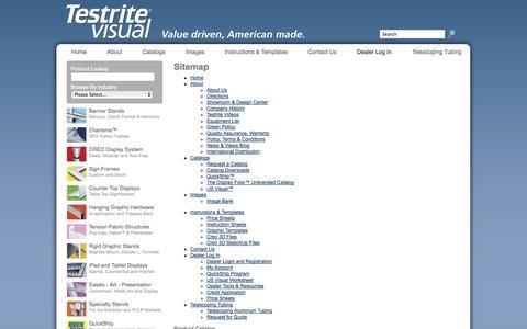 Screenshot of Site Map Page testrite.com - Testrite Visual | Sitemap - captured Sept. 19, 2014