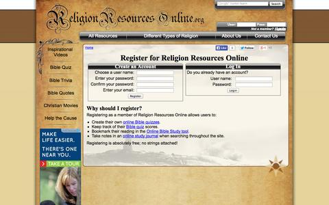 Screenshot of Signup Page religionresourcesonline.org - Register - captured Oct. 1, 2014