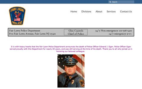 Screenshot of Home Page fairlawnpd.com - Fair Lawn Police Department - captured Oct. 10, 2018