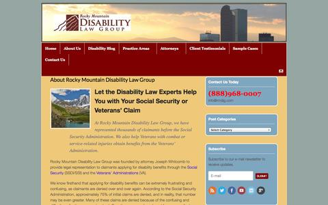 Screenshot of About Page rmdlg.com - Disability Law Colorado | Social Security Appeals |Help With Appeals - captured Oct. 7, 2014