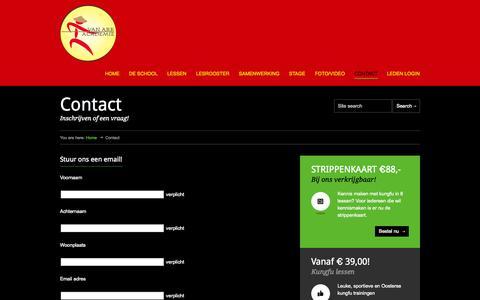 Screenshot of Contact Page vanarkacademie.nl - Een gratis proefles Kungfu - captured Oct. 7, 2014