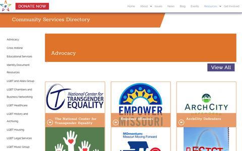 Screenshot of Services Page promoonline.org - Services - captured Sept. 29, 2017