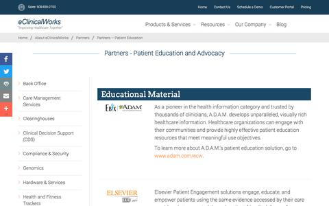 Partners - Patient Education - eClinicalWorks