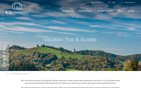 Screenshot of Blog itrip.net - Vacation Tips & Guides - iTripVacations - captured Sept. 23, 2018
