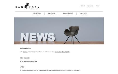 Screenshot of Press Page dan-form.com - DAN-FORM Denmark - Danish designer furniture | PRESS - captured Oct. 7, 2018