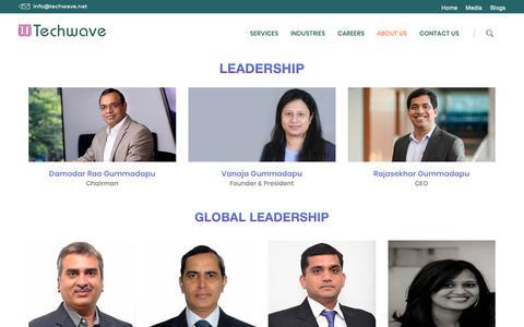 Screenshot of Team Page techwave.net - Leadership Team-Techwave - captured Feb. 10, 2019